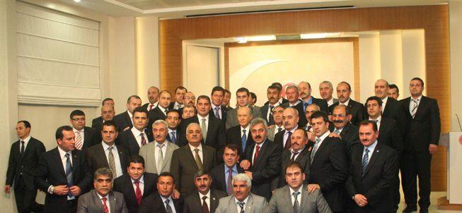 MHP Yönetiminden Bahçeli'ye ziyaret