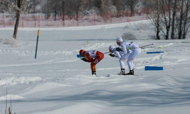 Kandilli'de kayaklı koşu coşkusu