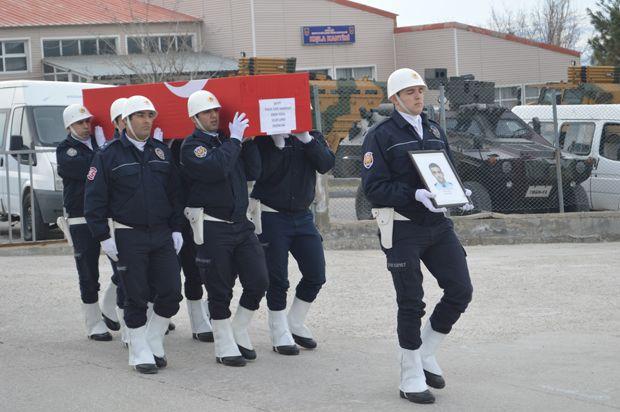 Şehit polis Yüca için tören düzenlendi