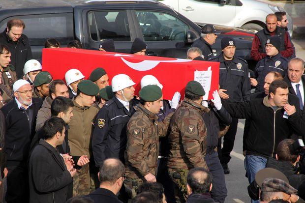 Şehit polis Yüca'ya son görev