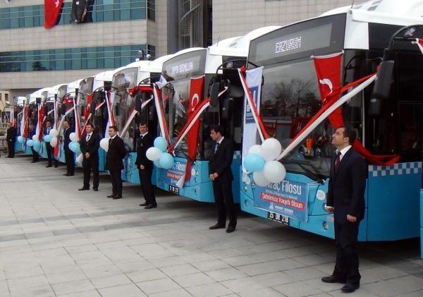 Erzurum'da toplu ulaşıma 30'u doğalgazlı 40 yeni otobüs