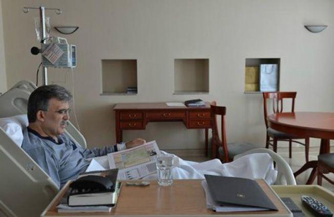 Abdullah Gül'ün hastaneden ilk fotoğrafları