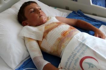 10 yaşındaki çocuk dehşeti yaşadı