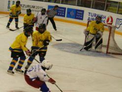Buz hokeyi süper lig maçları Erzurum`da