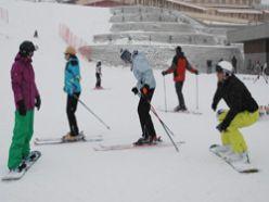 Palandöken`de kayak coşkusu