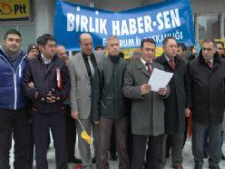Memurlar Erzurum`da balon patlattı