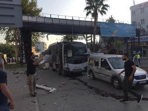 Adana'da çevik kuvvet servisine bombalı saldırı: 5 yaralı