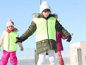 Atlama kulelerine acemi kayak pisti