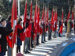 Erzurum`da üşüten tören