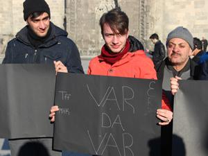 B.B. Erzurumspor taraftarından MHK ve TFF'ye protesto