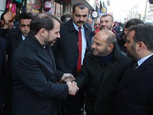 Bakan Albayrak'tan Erzurum esnafına ziyaret