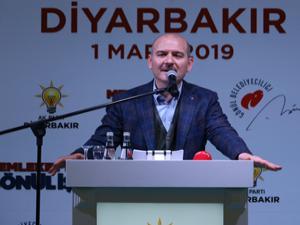Bakan Soylu Diyarbakır'da konuştu