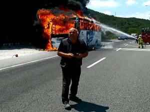 Balıkesir'de otobüs yangını: 5 ölü