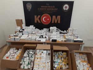 Başkent'te 72 bin ilaç ele geçirildi