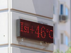 Çöl sıcakları Antalya'yı kavuruyor