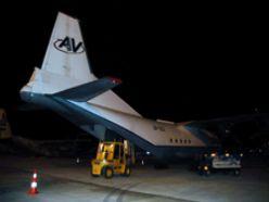 BM yardım uçağı Erzurum`da