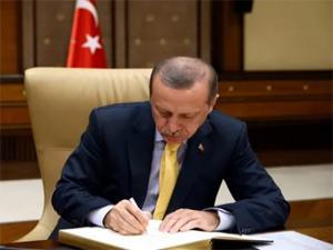 Erdoğan'dan görevden alma ve atama kararları