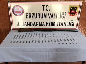 Erzurum'da 185 adet gümüş sikke ele geçirildi