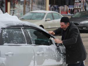 Erzurum'da kar yağışı ve soğuk hava etkili oluyor