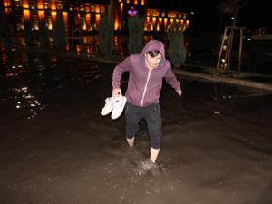Erzurum'da şiddetli yağış...