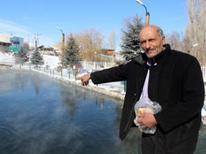 Erzurum'daki gizemli göl eksi 35'i gördü, yine donmadı
