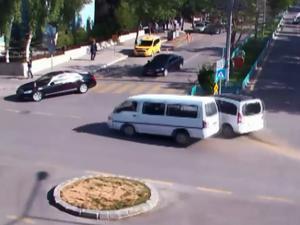 Erzurum'daki trafik kazaları kameralara yansıdı