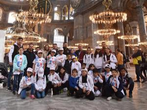 Erzurumlu minik sporcular İstanbul'da!