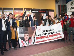 Erzurumlu sporcular Naim'e koştu