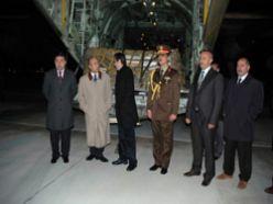 Mısır yardım uçağı Erzurum`da