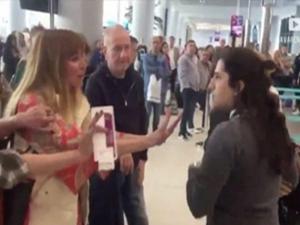 Havaalanı çalışanına hakaretler yağdırmıştı! Karar verildi
