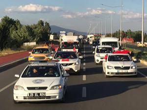 Horasan'da 15 Temmuz konvoyu
