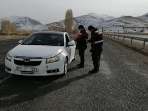 Horasan'da Jandarma Trafik Timi drone ile uygulamaya geçti