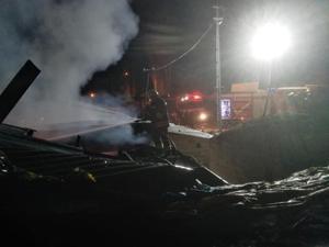 Horasan'da yangın: Bir ev tamamen kül oldu
