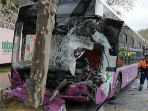İstanbul'da belediye otobüsü dehşet saçtı