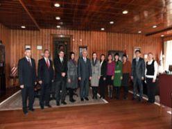 Kazak öğretim üyelerinin ziyareti