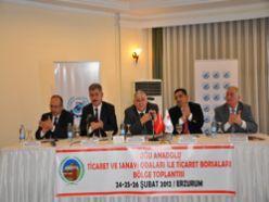 Doğu Anadolu TB ve TSO bölge toplantısı başladı