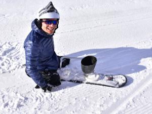 Kayak tutkusu engel tanımadı