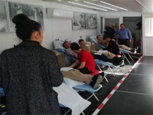 Kaymakam Erdem'den Kızılay'a kan bağışına destek