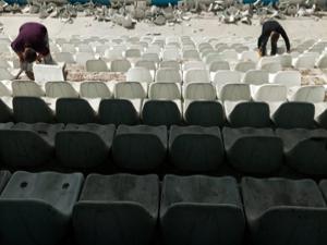Kazım Karabekir Stadı'nda 3 bin koltuk yenilendi