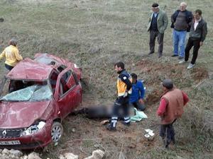 Kontrolden çıkan otomobil takla attı: 1 ölü