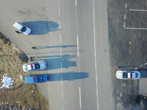 Köprüköy Jandarma Trafik Timleri Drone ile uygulamaya geçti