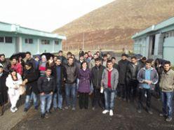 AÜ öğrencileri arıtma tesislerini inceledi