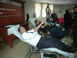 Erzurum Emniyeti kan bağışında bulundu