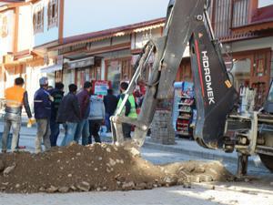 Oltu'da doğalgaz borusu hasar gördü