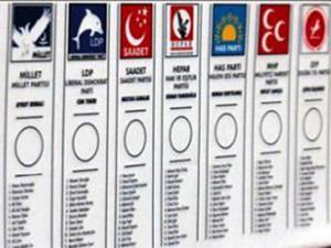 Oy pusulasında her parti ayrı yer alacak