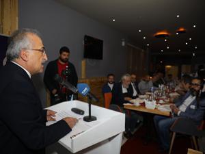 Rektör Çomaklı, basın mensuplarıyla iftar yemeğinde buluştu