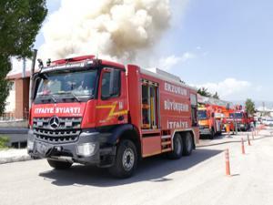 Sosyal tesis alev alev yandı