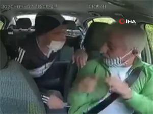Takside gasp dehşeti kameraya böyle yansıdı