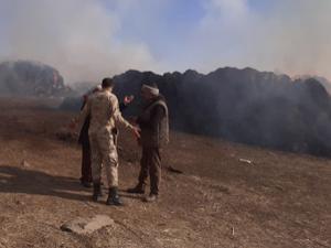 Tekman'da çıkan yangın 7 saatte kontrol altına alındı