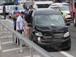 TEM'de zincirleme kaza! Trafik durdu